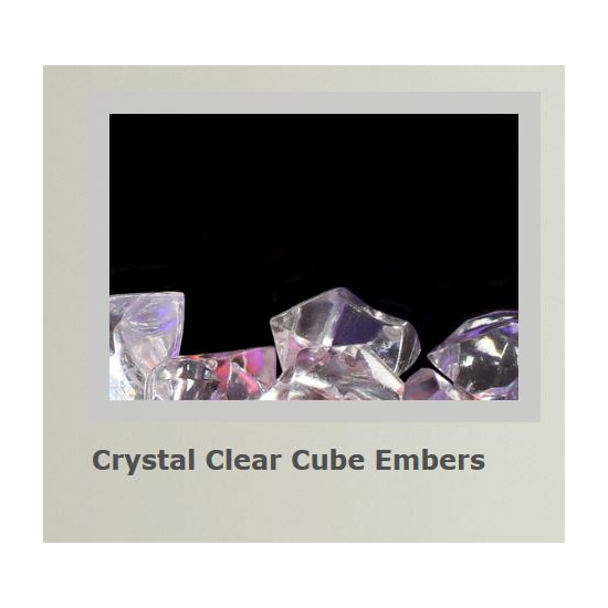 Crystal clear cube embers for Alluravision slimline electric fireplace 42 inch