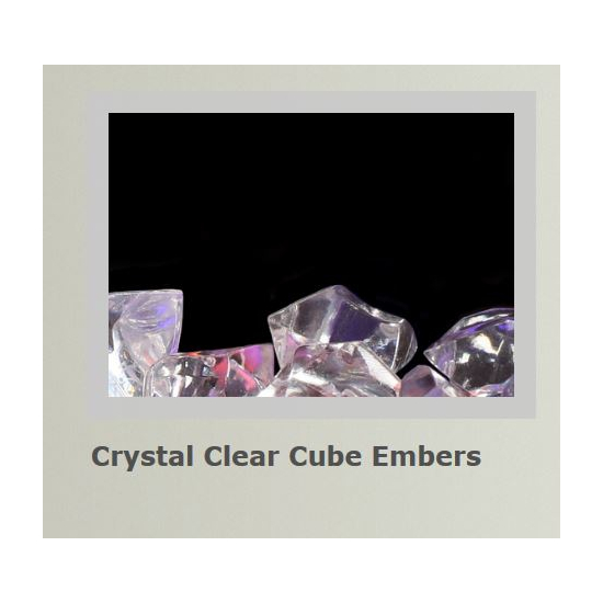 Crystal clear cube embers