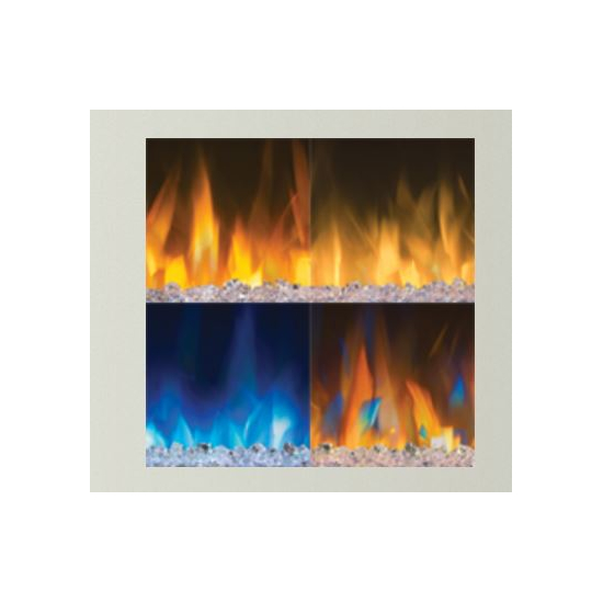 4 different flame colors for the Alluravision deep depth electric fireplace 50 inch