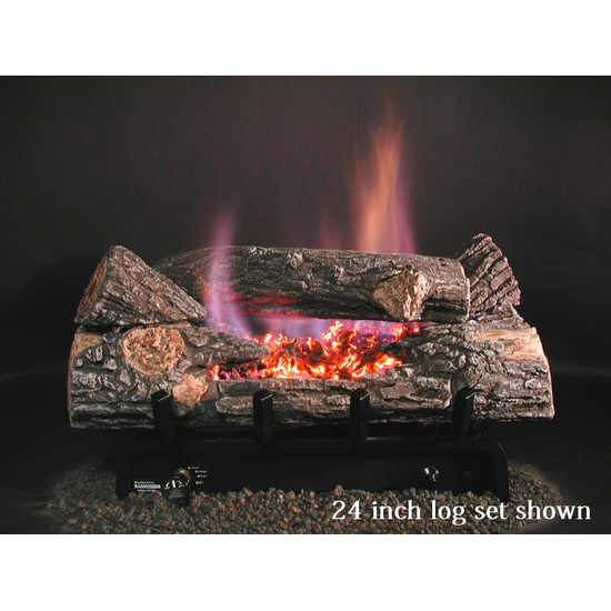 Evening Embers See-Thru Vent-Free Log Set with Single Burner