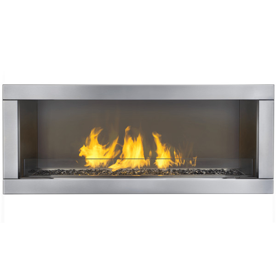 Galaxy Outdoor Gas Fireplace 48 Inch shown in custom built surround