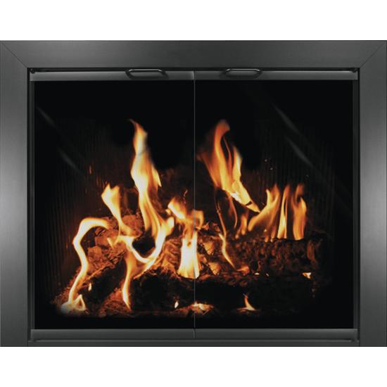 Chalet Masonry Fireplace Door in black