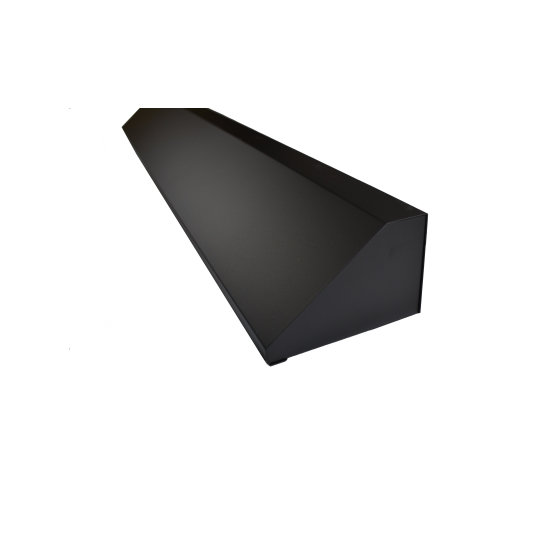 Matte Black Fireplace Hood Side