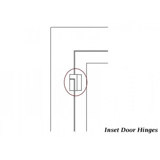 Inset hinge detail