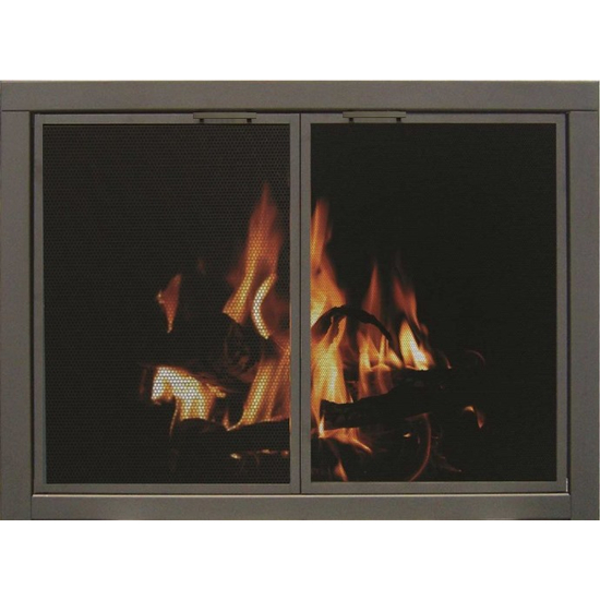 Mesh ZC Fireplace Door - Oil Rubbed Bronze - Square Handles