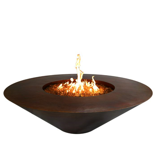 Julius Copper Gas Fire Pit Bowl 48 Inch