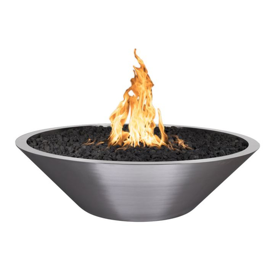 Orion Stainless Steel Gas Fire Pit Bowl 48 Inch
