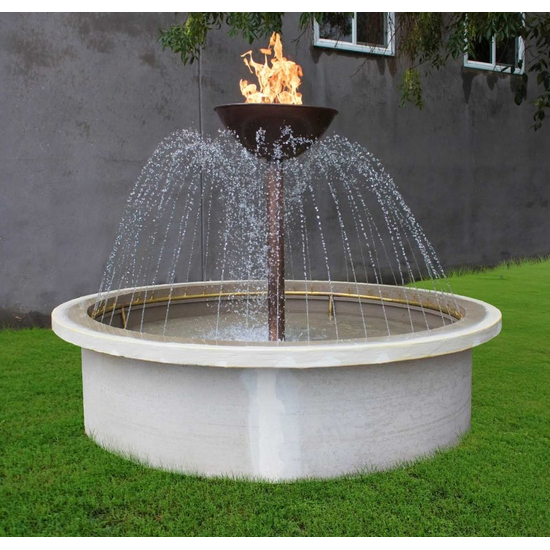 Osiris 360° Copper Self Contained Fire Bowl & Water Fountain 24 Inch