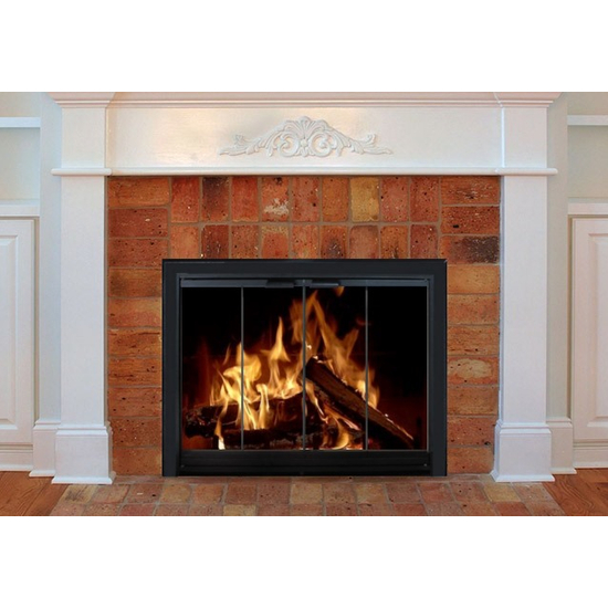 Fireplaces with fireplace hoods have additional protection against the heat of the fire and are cleaner.