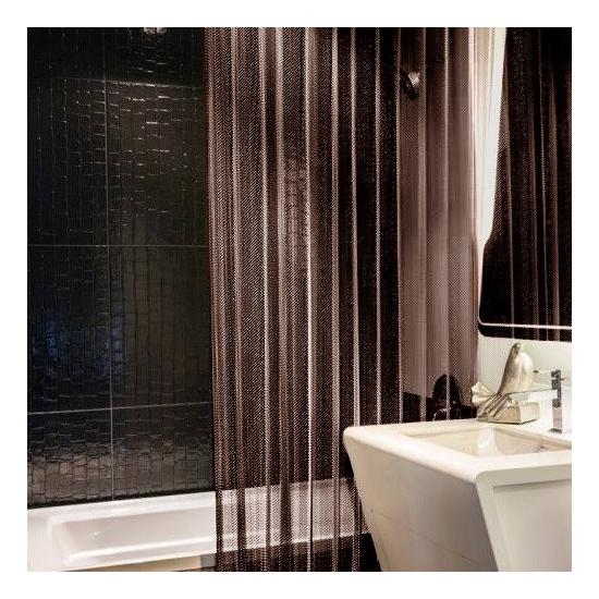 Shower Curtain In Antique Bronze Finish
