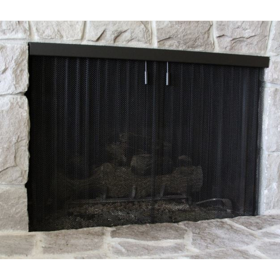 Black Recessed Screen Formed Metal 1 4, How To Repair Fireplace Screen