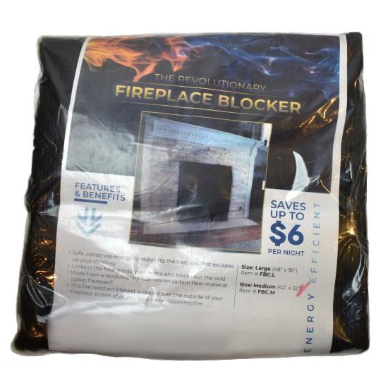 Packaging of the Fireplace Blocker
