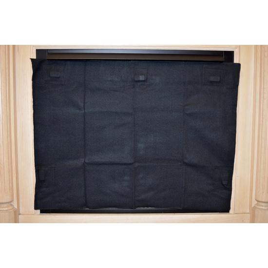 Fireplace Blocker applied to the facing of a prefabricated / zero clearance fireplace