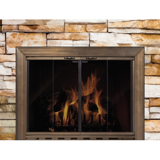 The Savannah glass fireplace door is designed for masonry fireplaces only.