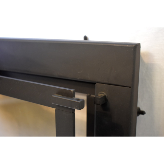 By removing the bolt, the fixed panel on the door can be opened and/or removed