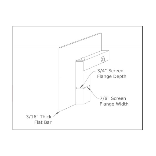 Affinity fireplace door main frame rear profile