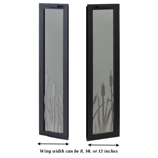 Wing width can be customized in 8, 10, or 12 inch widths