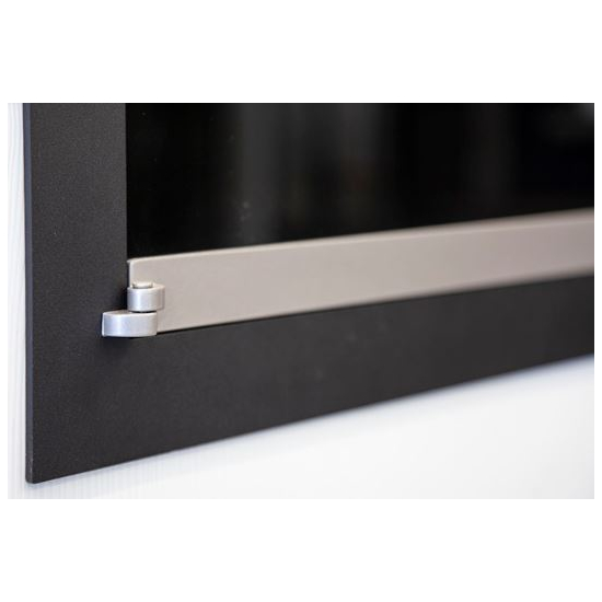 Hinge detail for flush fit doors