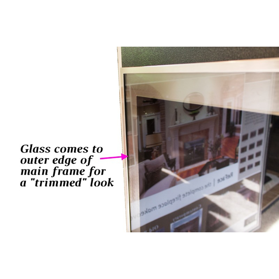 """Glass on the Biscayne hidden frame door comes to the outer edge of the main frame for a """"trimmed"""" look"""