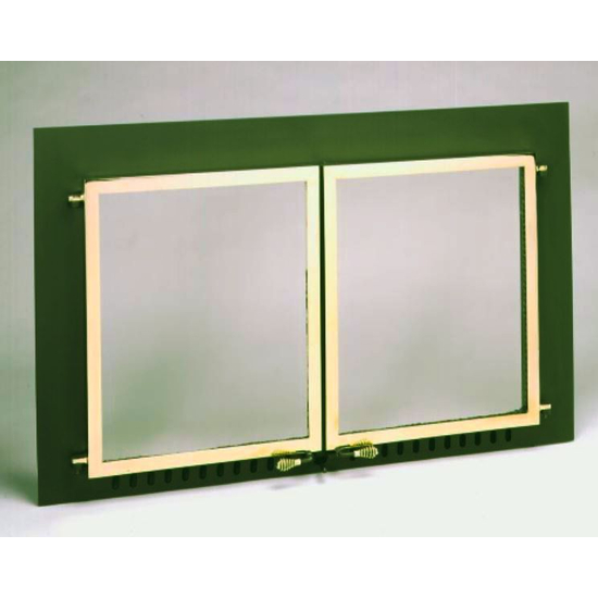 Supreme Air Sealed Fireplace Door with Gold