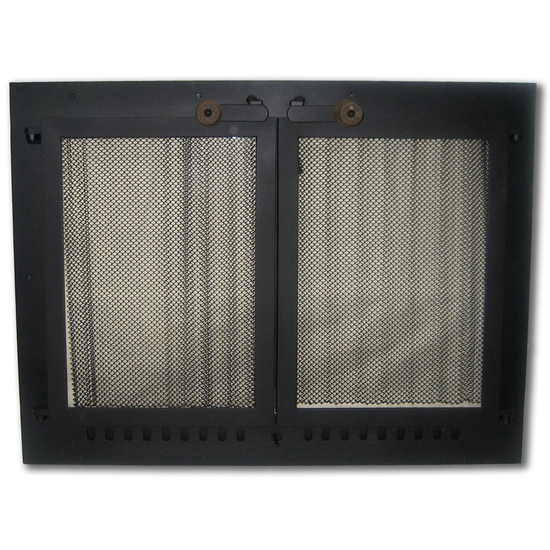 Ultimate Seal Ceramic Glass Masonry Fireplace Door in Black