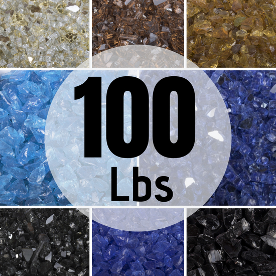 100 Pounds of Fire Glass from Top Fires