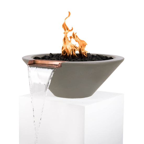 Cazo Fire and Water Bowl in Ash