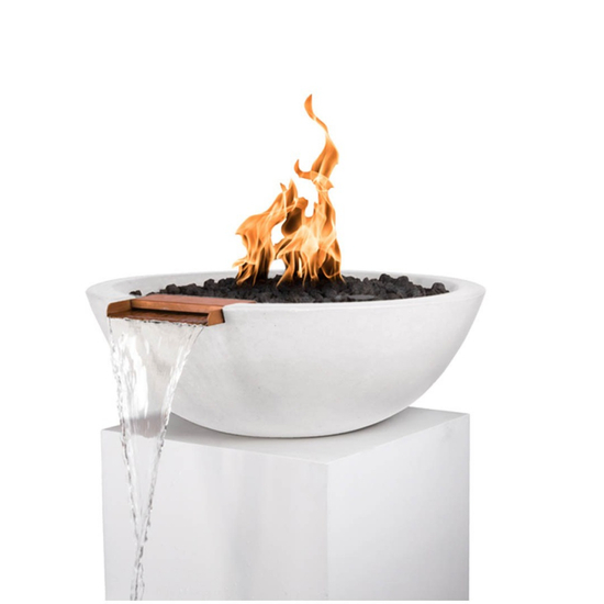 27 Inch Sevilla Fire and Water Bowl in limestone