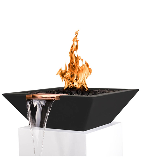 "24"" Madrid Fire and Water Bowl in black"