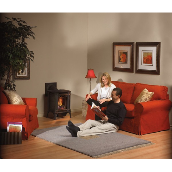 Suggested room setting for Arlington direct vent gas stove