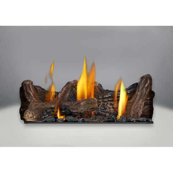 Included Phazer Log Set for the Haliburton Direct Vent Gas Stove
