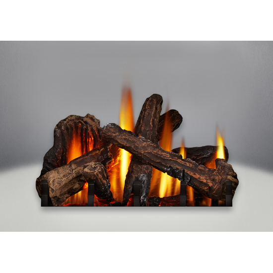The Phazer log set is included with the Knightsbridge direct vent gas stove