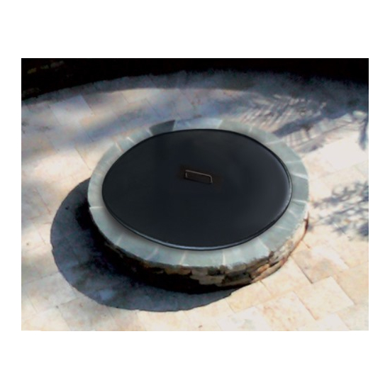 30 Inch Round Metal Fire Pit Cover in Black Finish