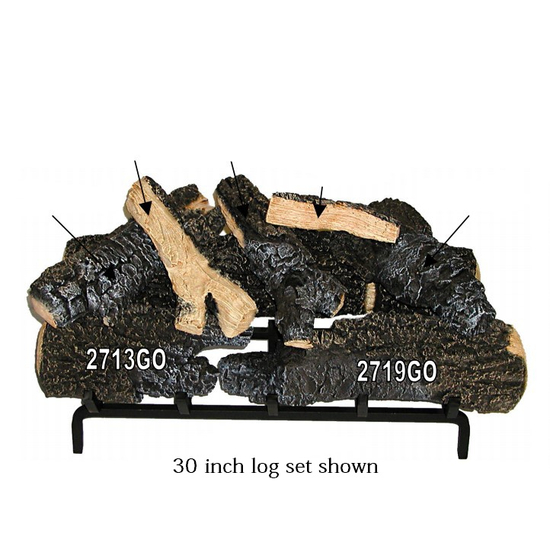 30 inch Magnificent Inferno Gas Log Set