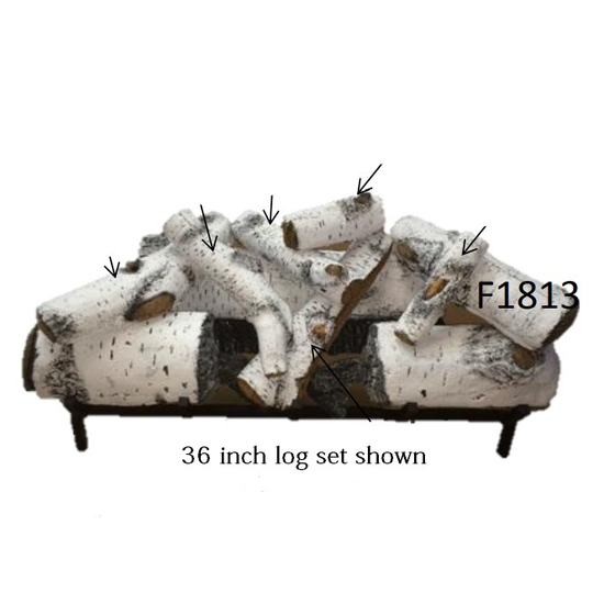 36 inch Aspen Timbers Gas Log Set