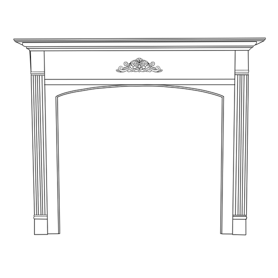 Arched Arden Fireplace Wood Mantel
