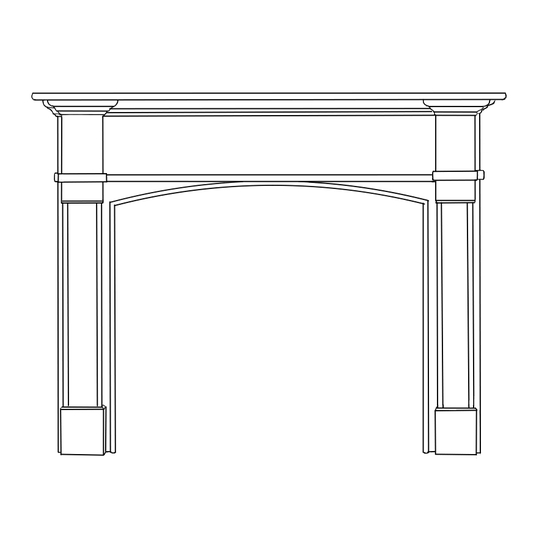 Arched Chateau Fireplace Wood Mantel
