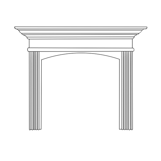 Arched Sandringham Fireplace Wood Mantel