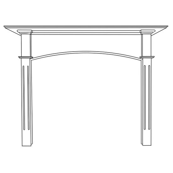 Arched Whitmore Fireplace Wood Mantel