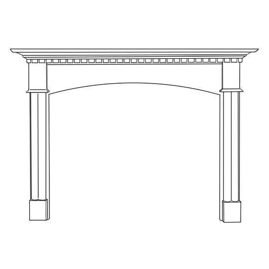 Arched Willington Fireplace Wood Mantel