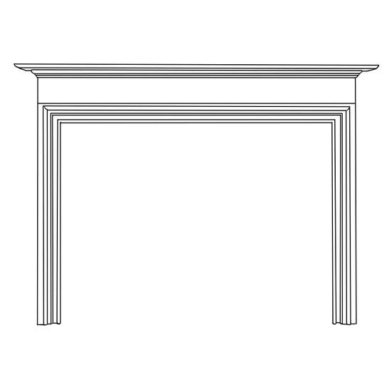 Bellamy Fireplace Wood Mantel