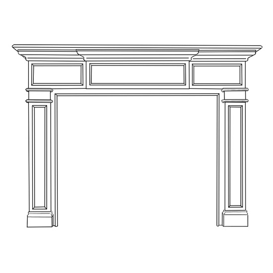 Carolina Fireplace Wood Mantel