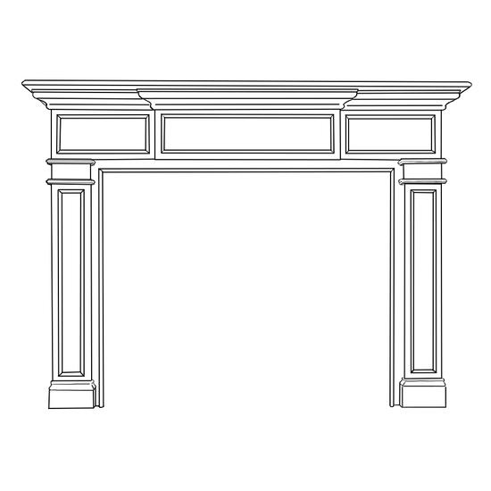 Carolina Fireplace Wood Mantel