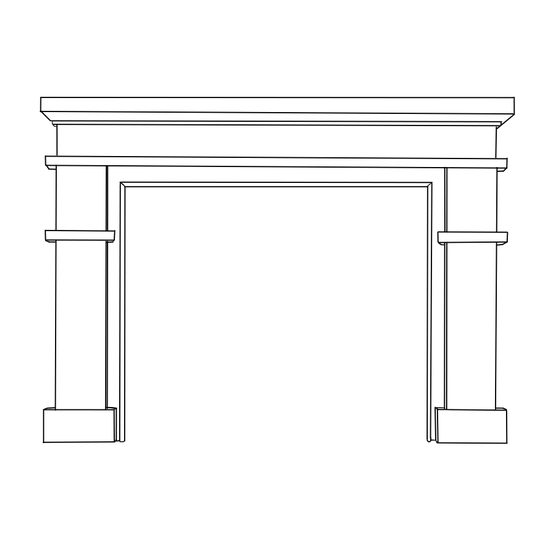 Clayton Fireplace Wood Mantel