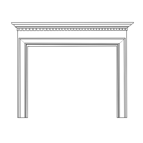 Hammond Fireplace Wood Mantel