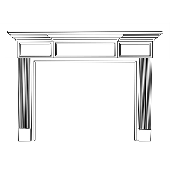 Hampton Fireplace Wood Mantel