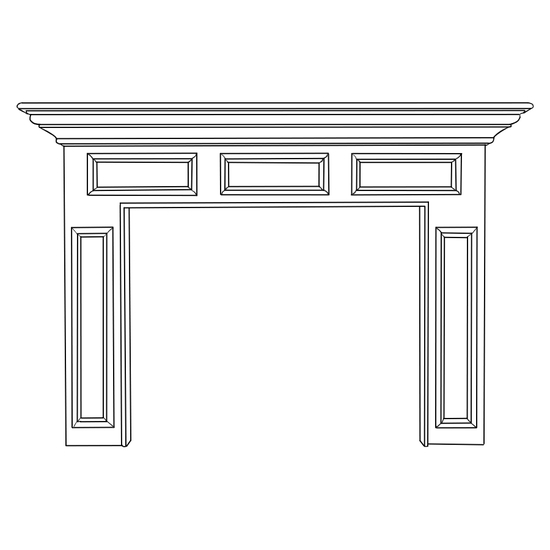 Homewood Fireplace Wood Mantel