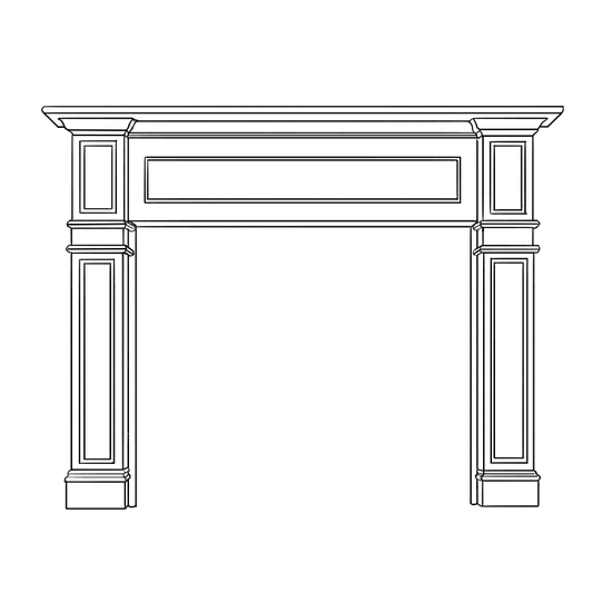Kingscote Fireplace Wood Mantel