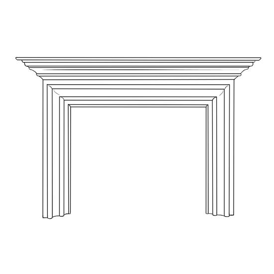 Newart Fireplace Wood Mantel