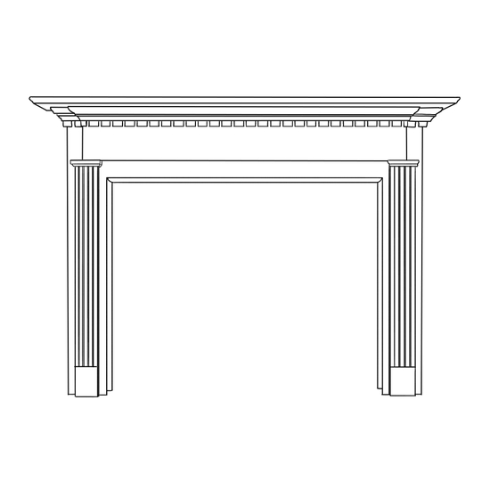 Quintin Fireplace Wood Mantel